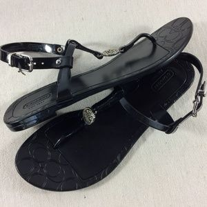 Coach jelly sandals Pansy
